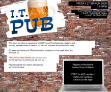 Extra-curricula: IT in the Pub 27/03/2009